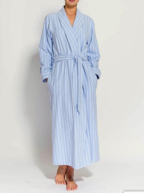 Blue & white westwood stripe ladies robe