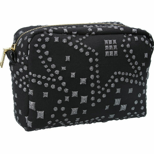 Silver star  jacquard cosmetic pouch