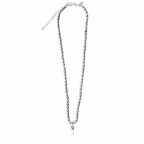 Elle necklace- grey pearl (1193)