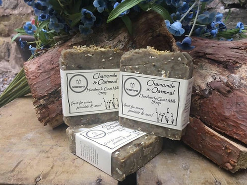 Chamomile & oatmeal goat milk soap