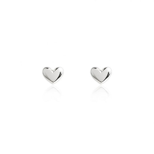 Lila Heart Stud Earrings