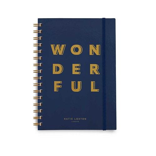 Spiral Bound Notebook | Wonderful | Navy