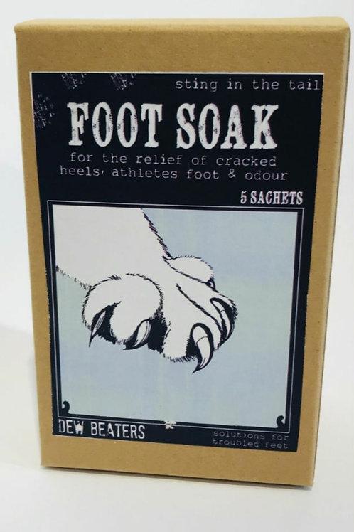 Dew beaters foot soak