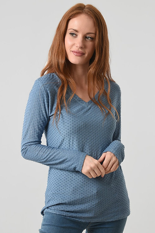 Textured dot jumper  (available in different colourways)