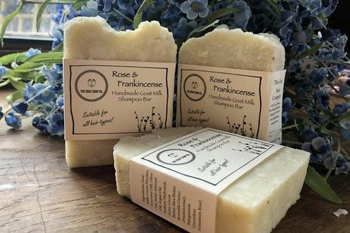 Rose& frankincense goat milk shampoo bar