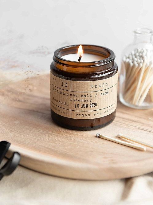 Drift candle jar