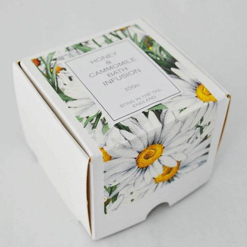 Honey & chamomile bath infusion