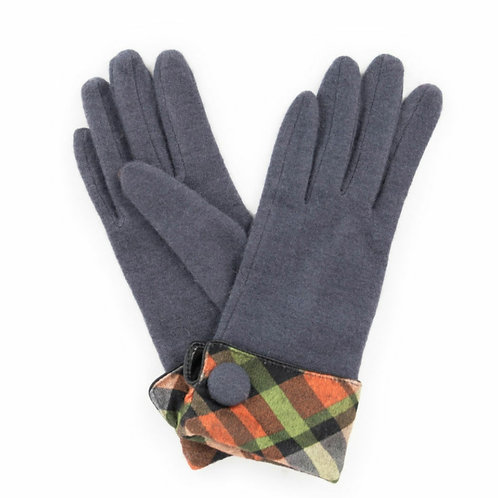 Heather wool gloves- charcoal