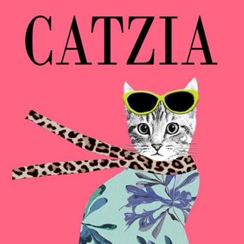 Catzia- greetings card