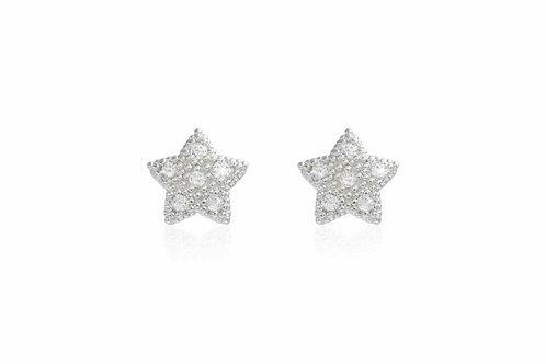 Bella pave star stud earrings