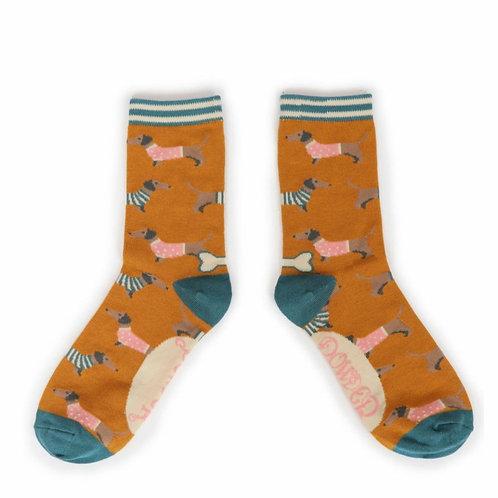 Jumper sausage dogs Ankle Socks