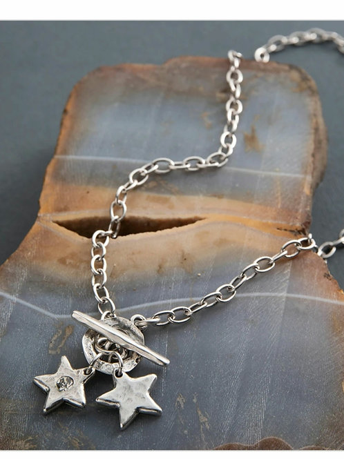 Star shine double necklace