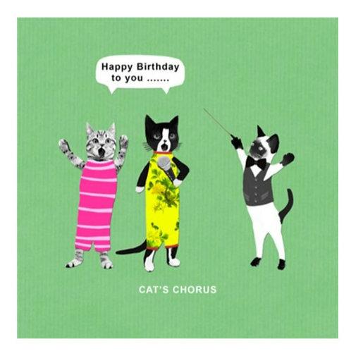 Cats chorus -Greeting Card