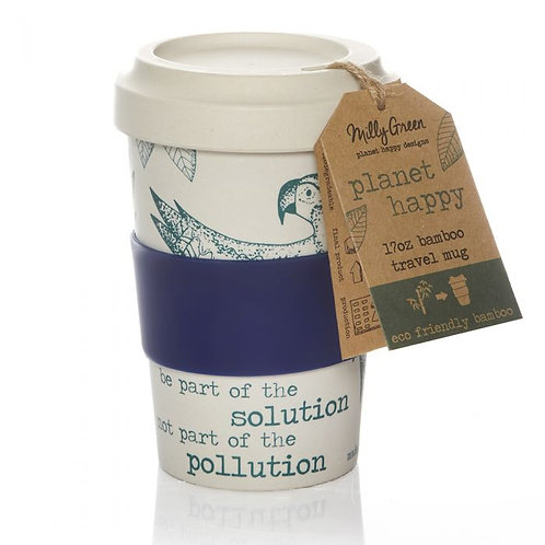 Rainforest eco friendly bamboo travel mug 17oz
