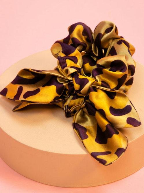 Leopard scrunchies