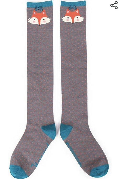 Foxy knee high socks