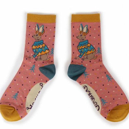 Jumper hare ankle socks
