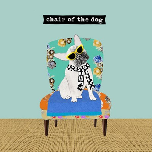 Chair of the dog-Greeting Card