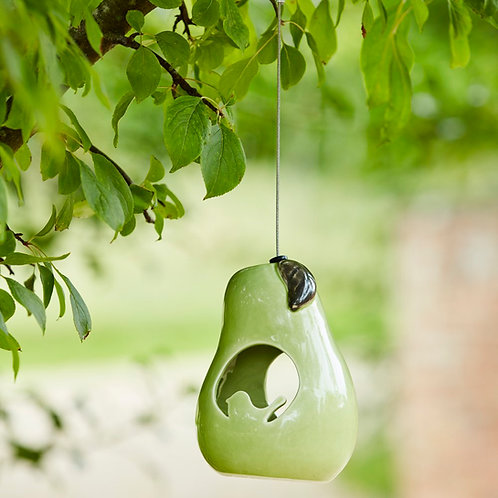 Sophie Conran ceramic bird feeder - Pear