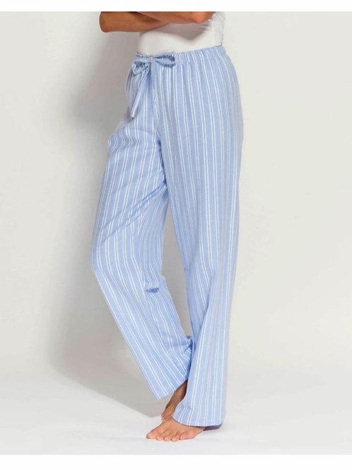 Blue & white westwood stripe ladies pyjama trousers