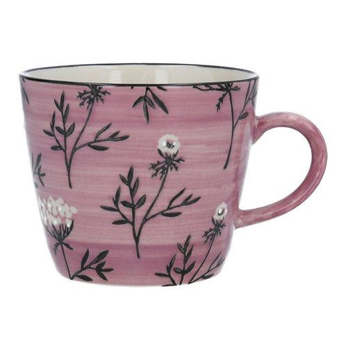 Cow parsley ceramic mug
