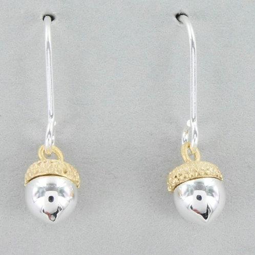 Sterling acorn earrings(BB51)