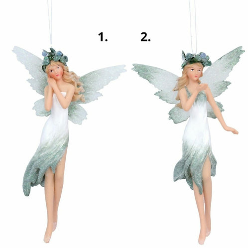 Pale green and white ombre fairy decoration (17529)