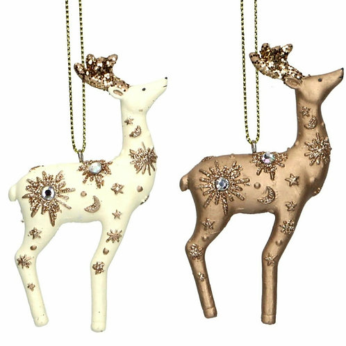 Small resin deer hanging decoration (17026)