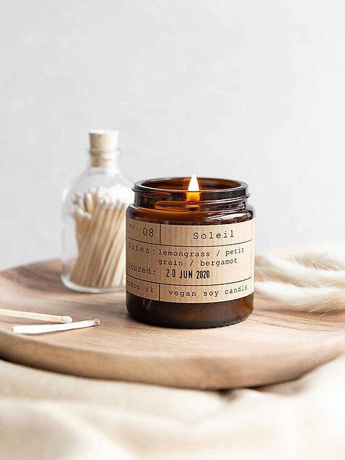 Soleil candle jar