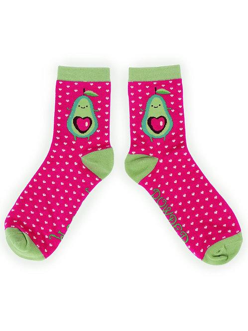 Avocado ladies ankle socks