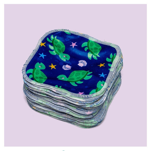 Washable bamboo baby wipes