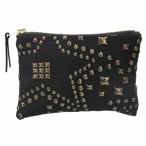 Gold star jacquard purse