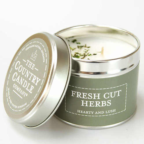 Fresh cut herbs tin candle- pastels collection