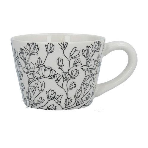 Magnolias artisan mug