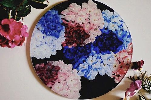 Floral Hydrangea Glass Worktop Saver