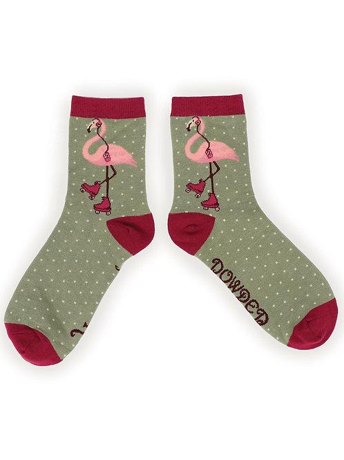 Flamingo ladies ankle socks