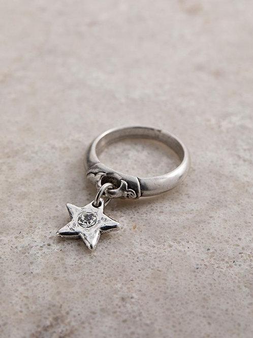 Star shine charm ring