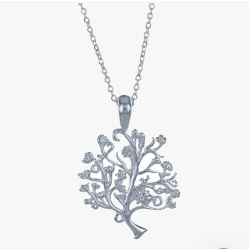 Sterling silver tree of life necklace (BB194)