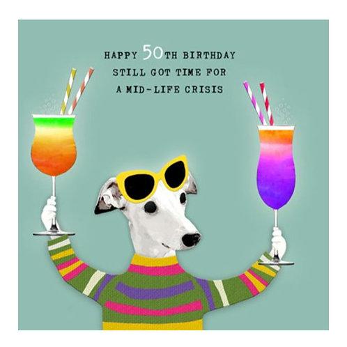50th Birthday -Greeting Card