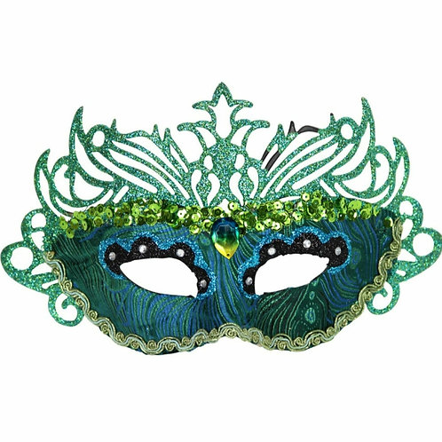 Peacock filigree mask (38243)