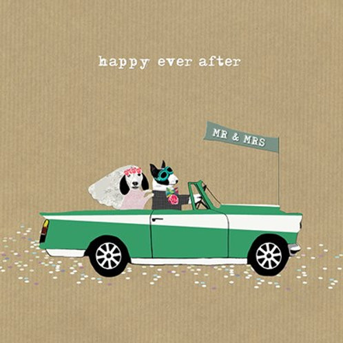 Happy ever after Mr and Mrs-Greeting Card