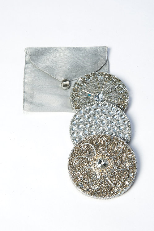 Silver Compact Mirrors