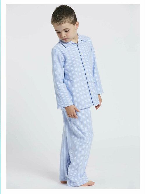 Children's blue & white westwood stripe pyjama set