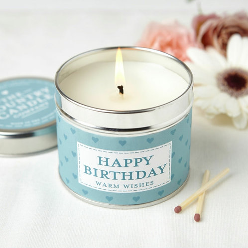 Happy Birthday candle - sentiments collection