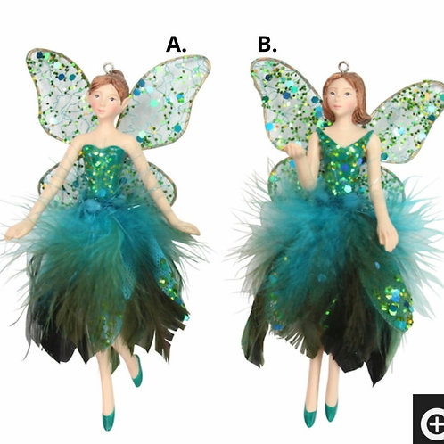 Peacock feather fairy decoration (2 assorted)