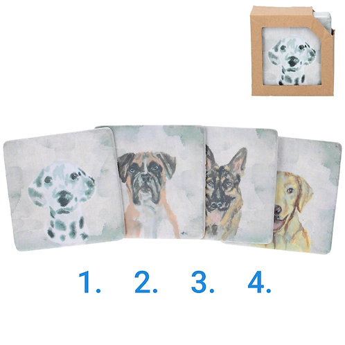 Watercolour dogs resin coasters