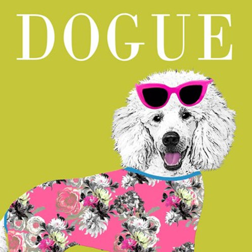 Dogue- greetings card