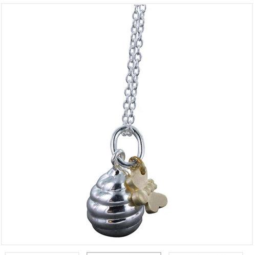 Sterling silver honey pot necklace  (BB06)