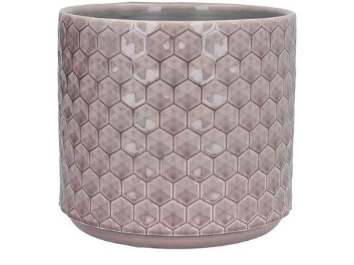 Dusky mauve honeycomb pot cover