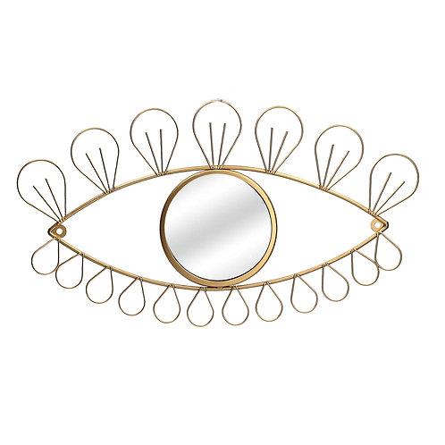 Gold eye wall mirror